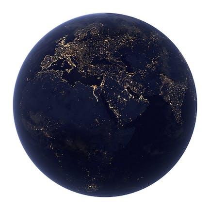 Tierra realista en la noche