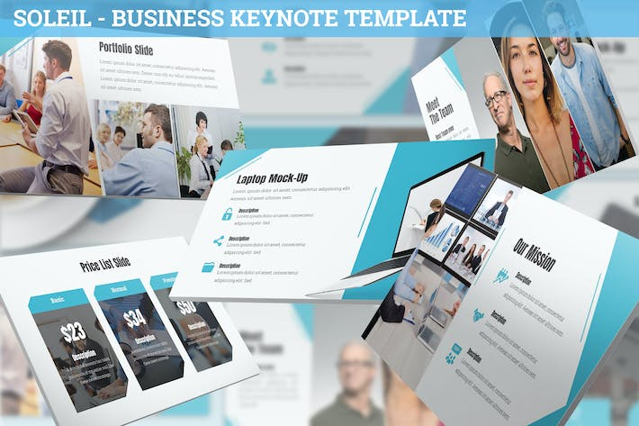 Thumbnail for Soleil - Business Keynote Template