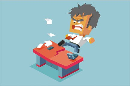 Split desk by anger