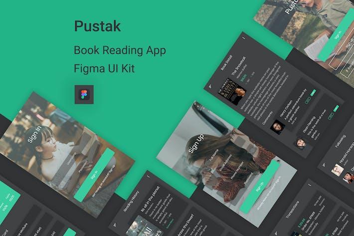 Thumbnail for Pustak - Book Reading UI Kit for Figma