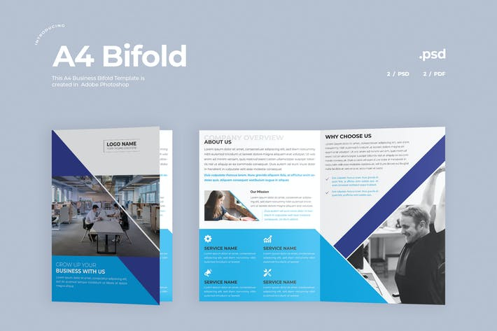 Thumbnail for Business Bifold Brochure