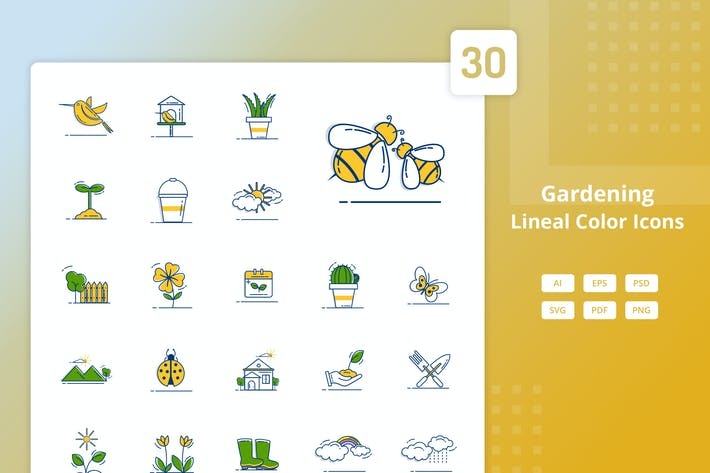 Thumbnail for Gardening - Lineal Color Icons
