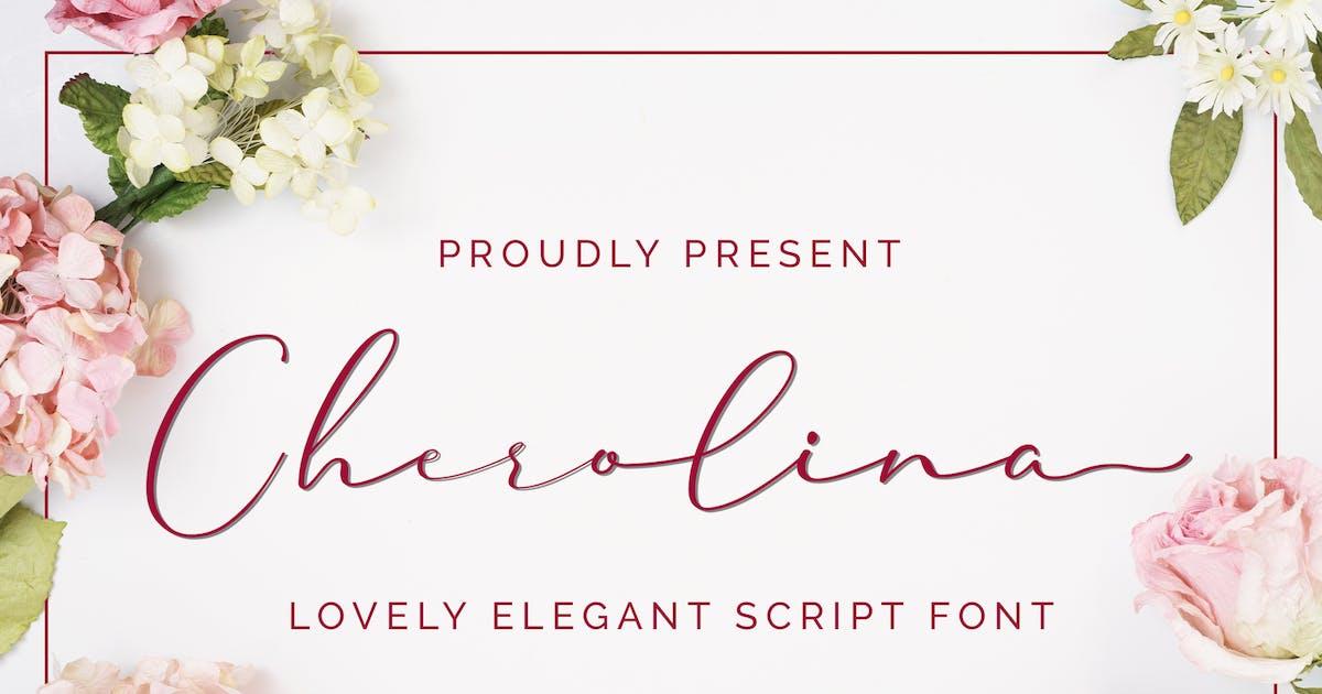 Download Cherolina-Lovely Elegant Script by aditypotypea