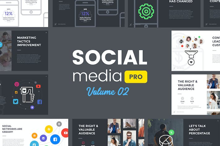 Thumbnail for Social Media Pro (VOL.02) - Keynote Template