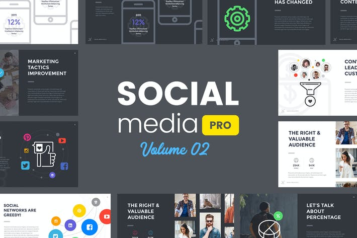 Social Media Pro (VOL.02) - Keynote Template