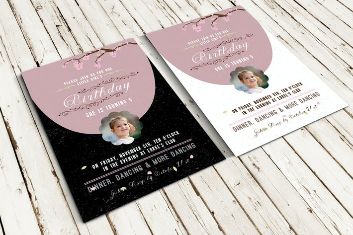 Thumbnail for Invitation d'anniversaire et cartes RSVP
