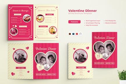 Valentine Dinner Bifold Brochure