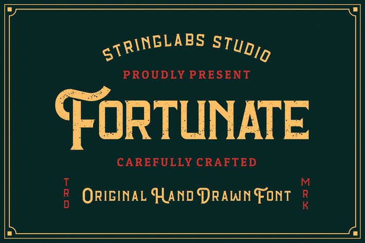 Cover Image For Fortunate - Fuente original dibujada a mano retro