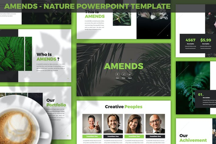 Thumbnail for Amends - Nature Powerpoint Template