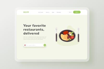 Dinner Dish Restaurant Landingpage Website