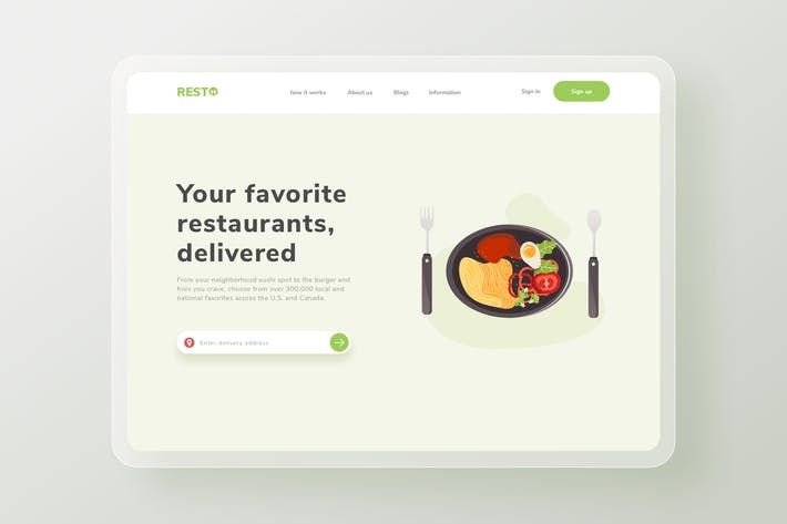 Thumbnail for Dinner Dish Restaurant Landing page Website
