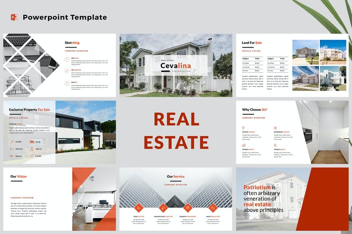 Thumbnail for Real Estate Powerpoint Presentation Template
