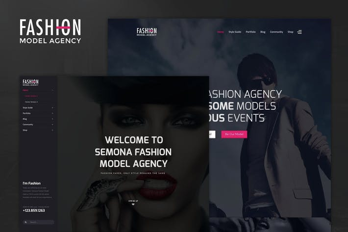 Cover Image For Fashion - Model Agency, Photograph Joomla Template