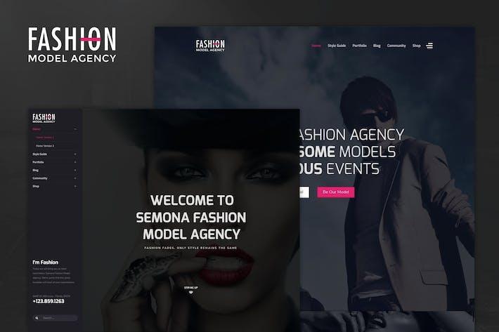 Thumbnail for Moda - Agencia Modelo, Fotografía Plantilla Joomla