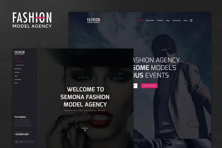 Fashion - Model Agency, Photograph Joomla Template