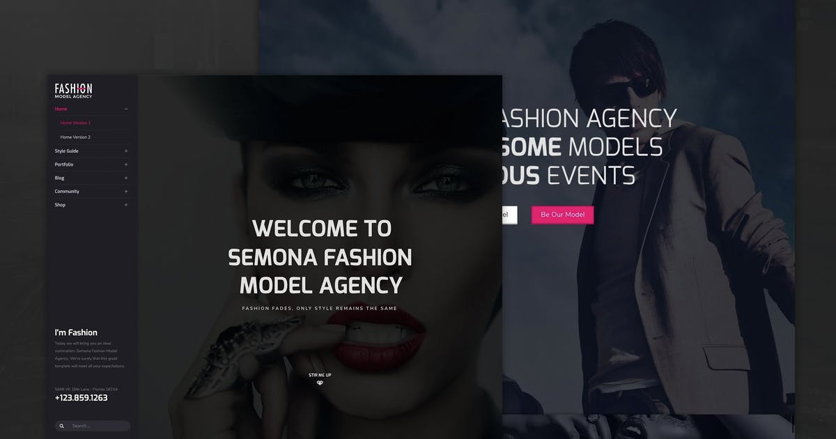 Download Fashion - Model Agency, Photograph Joomla Template by templaza