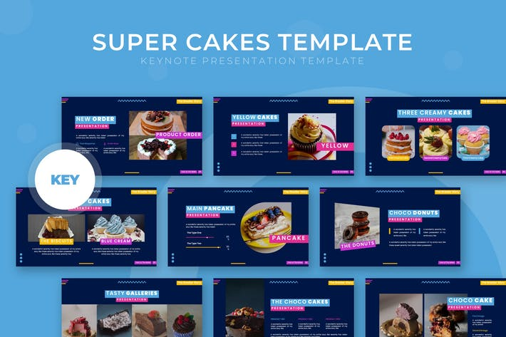 Thumbnail for Super Cakes - Keynote Template