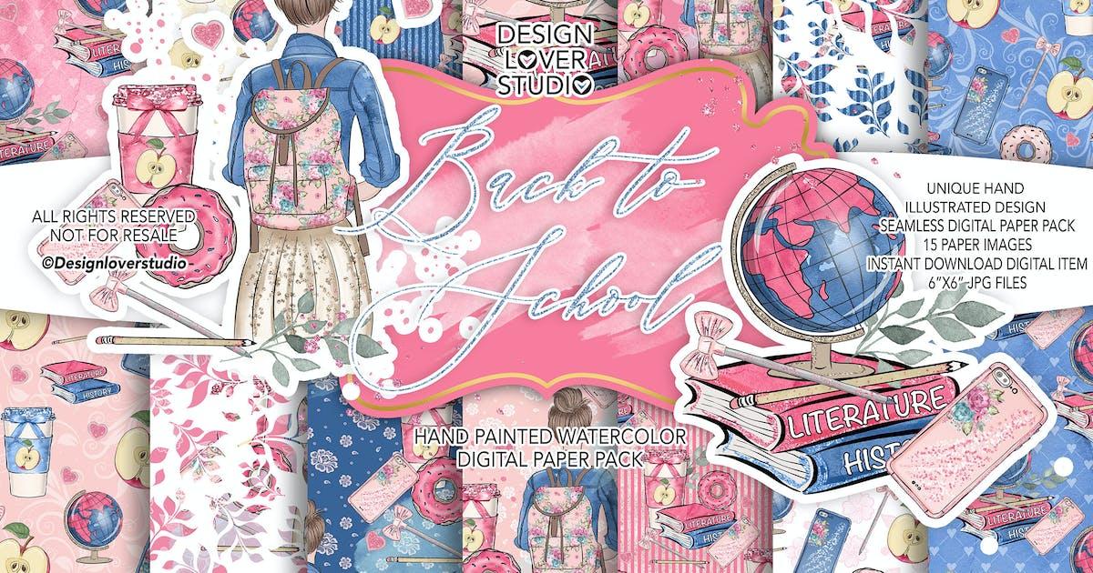 Download Back to School digital paper pack by designloverstudio