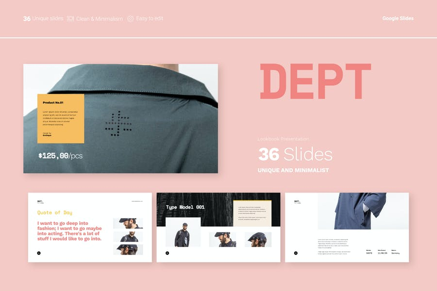 Dept - Fashion Presentation Google Slides