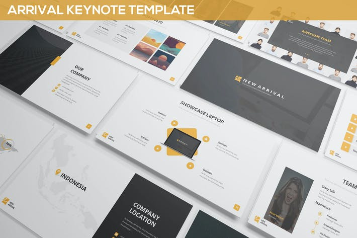 Cover Image For Arrival Keynote Template