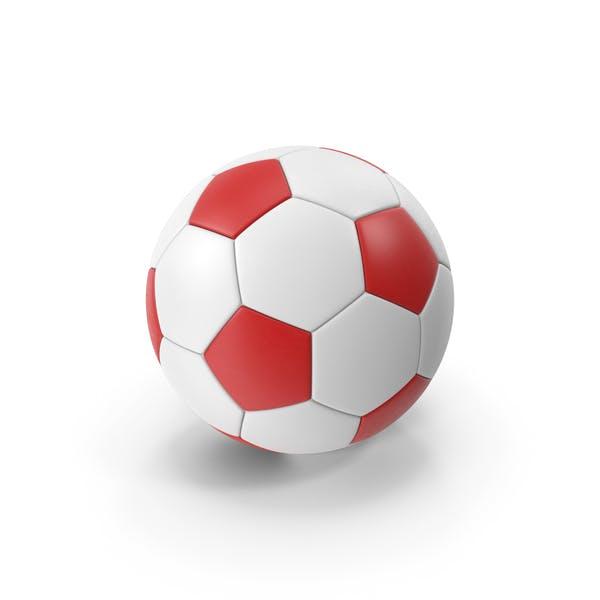 Футбольный мяч красный