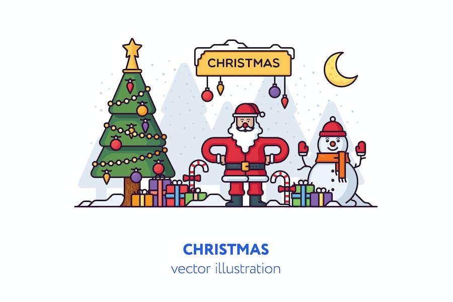 WeihnachtsVektor Illustration