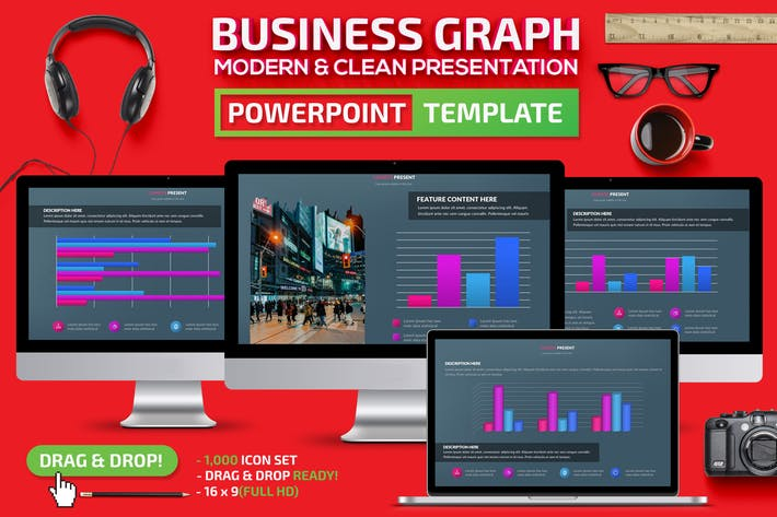 Thumbnail for Business Graph Powerpoint Template