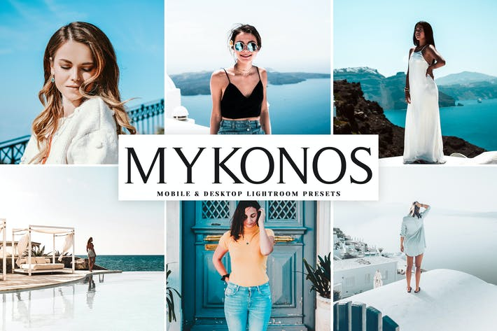 Thumbnail for Mykonos Mobile & Desktop Lightroom Presets