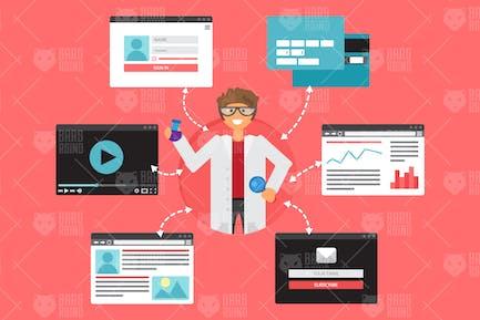 Online-Konzept der Populärwissenschaft