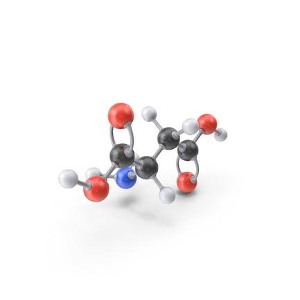Aspartic Acid Molecule