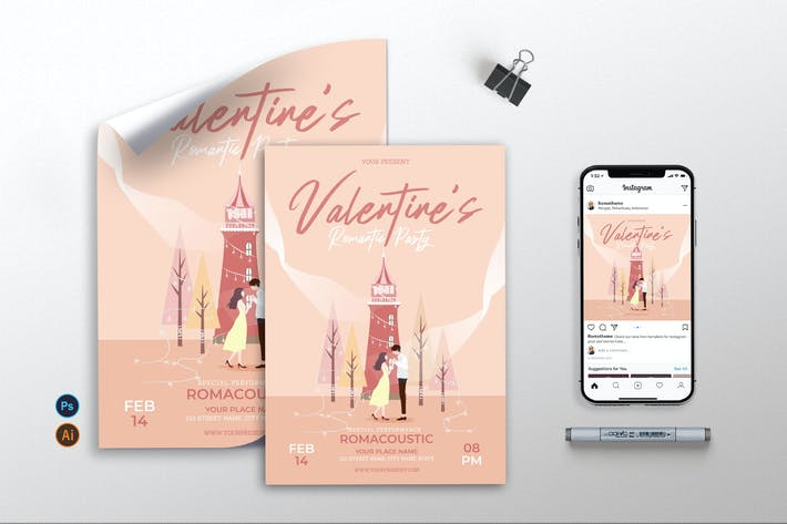 Thumbnail for Valentine Romantic Party vol.01 - Flyer, Poster AS