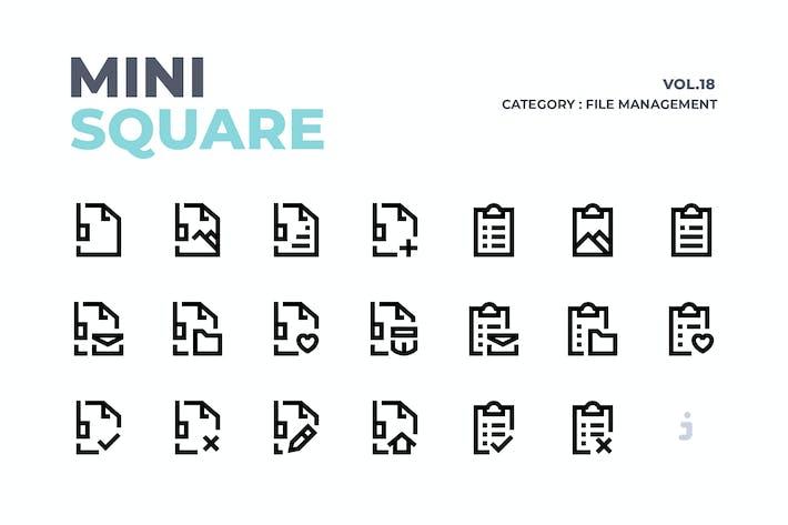 Thumbnail for Mini square - 50 File Management Icons