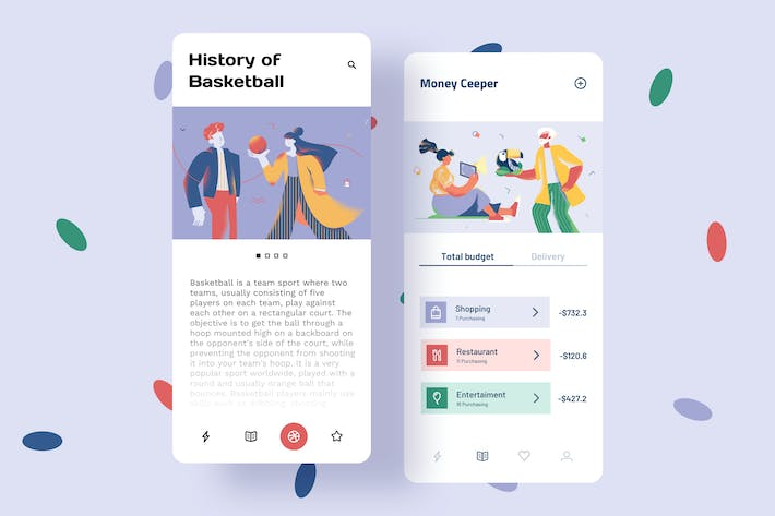 Thumbnail for Sport Mobile Interface Illustrations