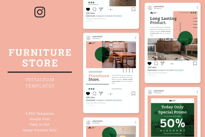 Thumbnail for Furniture Store Instagram Post Template