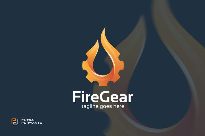 Thumbnail for Fire Gear - Logo Template