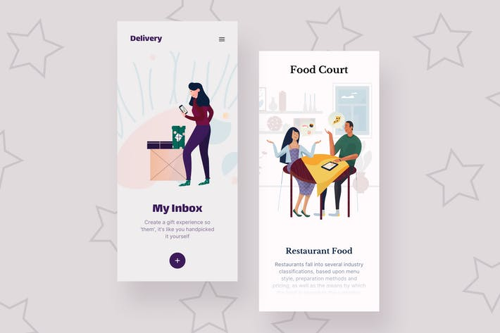 Thumbnail for Food Mobile Interface Illustrations