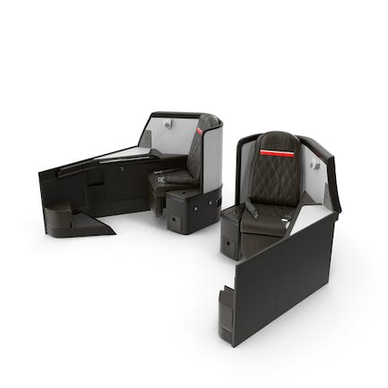Airplane Business Class Seats Side