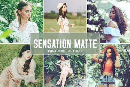 Sensation Matte Photoshop Actions