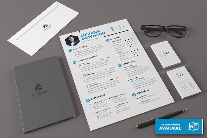 Thumbnail for Minimal Resume Template v.5