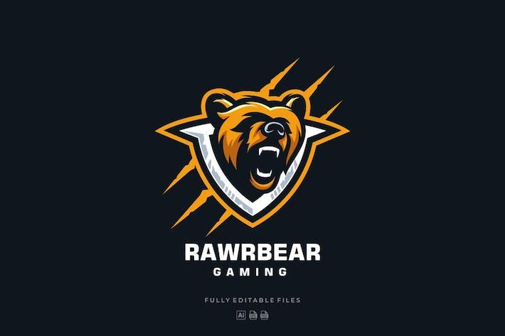 Thumbnail for Bear Head Mascot Sports and E-sports Style Logo