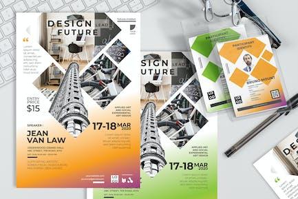Design Lead Future - Poster und Seminareinladung