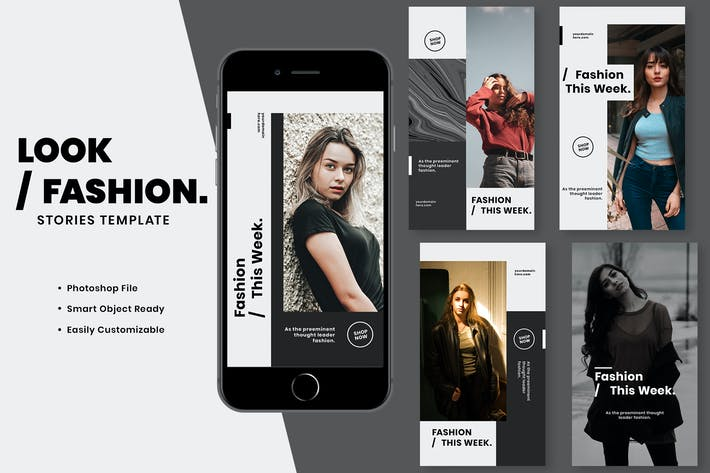 Thumbnail for Look Fashion Instagram Stories Template