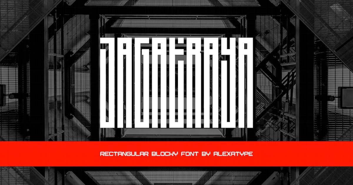 Download Jagatraya - Rectangular Tall Blocky Font by alexacrib