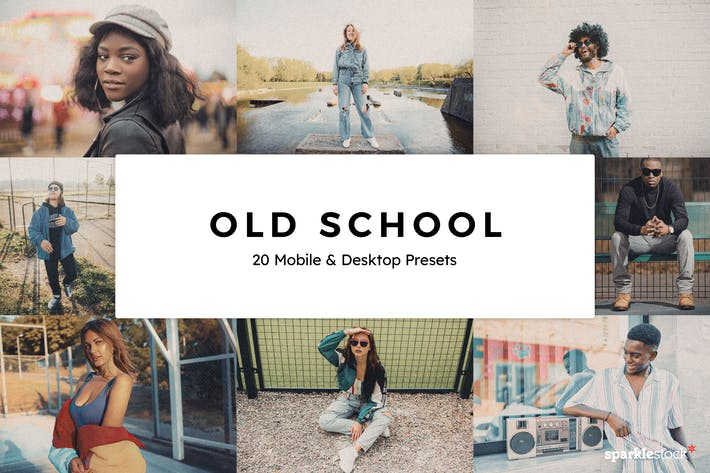 Thumbnail for 20 Old School Lightroom Presets & LUTs