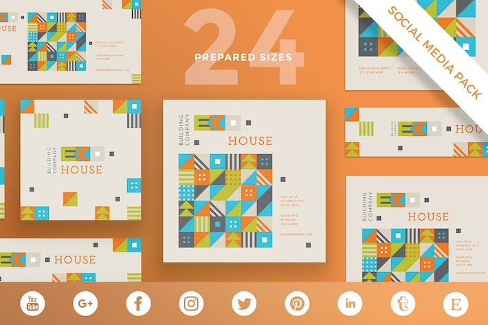 Thumbnail for Eco House Social Media Pack Template
