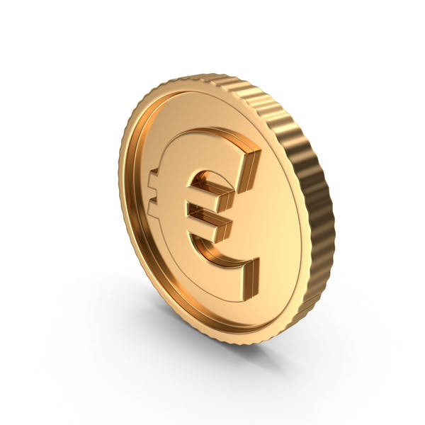 Golden Euro Coin Symbol