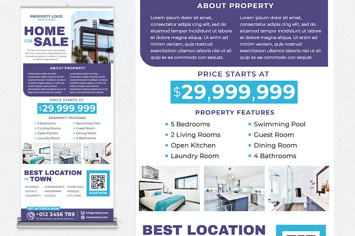 Thumbnail for Home For Sale Roll Up Banner