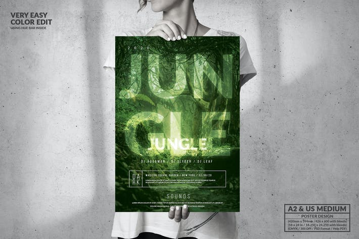Jungle Music Event - Big Poster Design