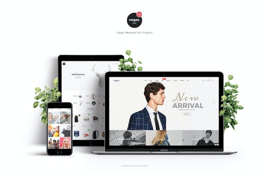 Negan - Clean, Minimal eCommerce PSD Template