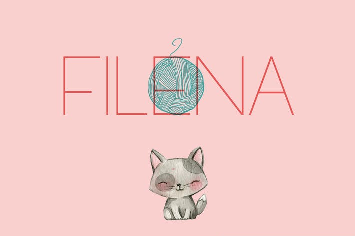 Thumbnail for Filena - Sans Serif Font